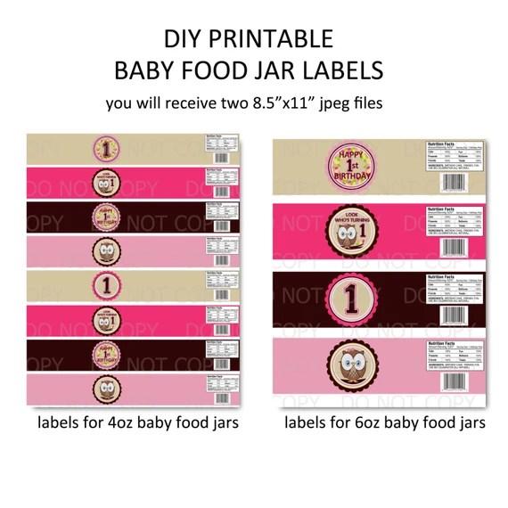 printable baby food jar labels foodstutorial org