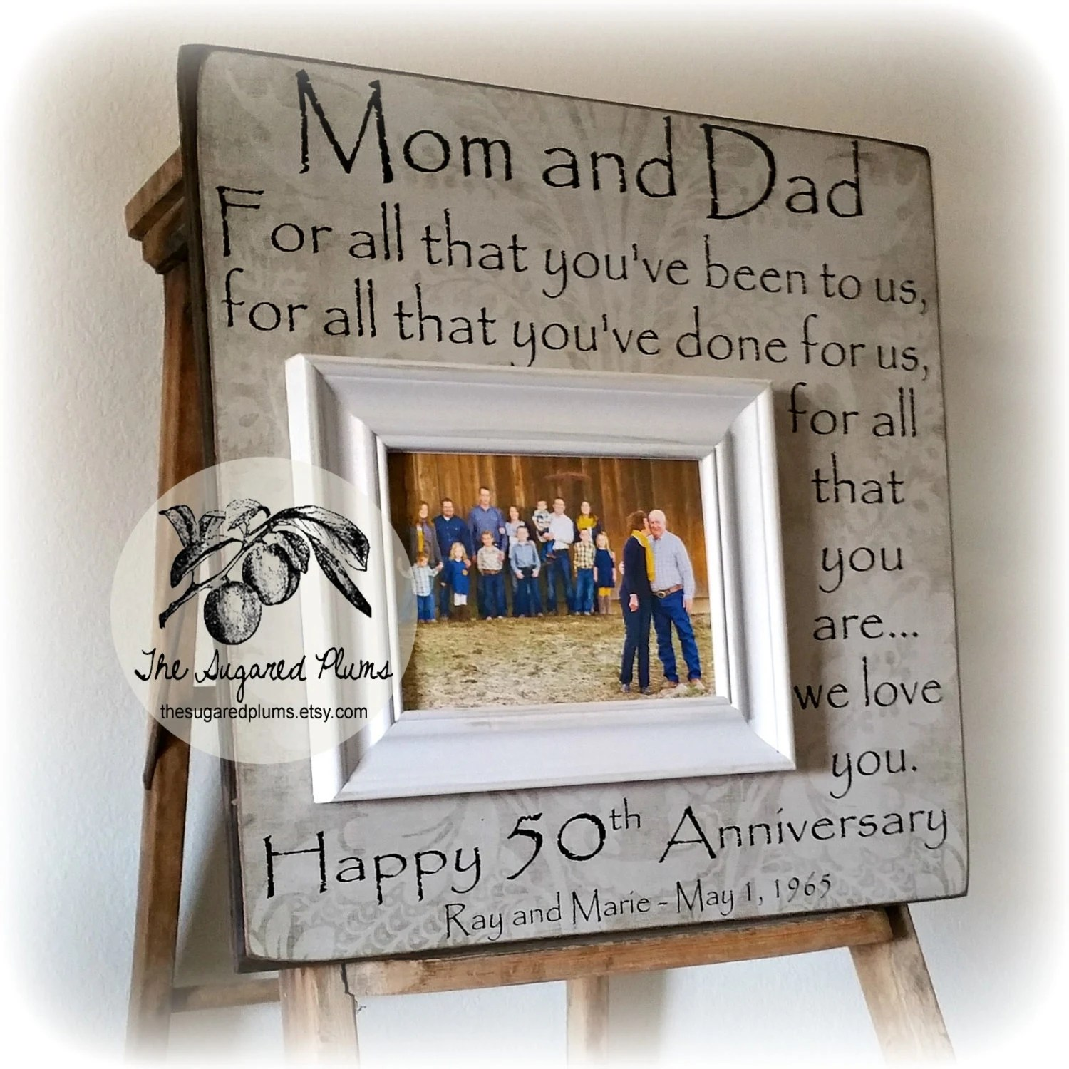 50th anniversary gifts parents
