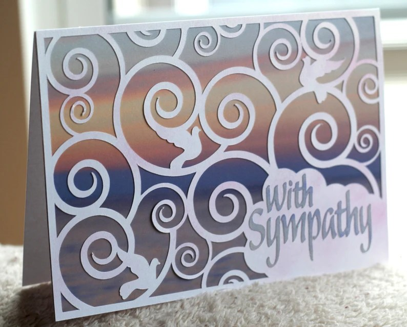 Download SVG/PNG/JPG Digital Cut File Sympathy card with background ...