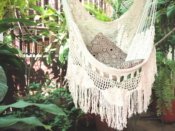 hanging chair wood 49ers football helmet hammock white with fringe and loose etsy image 0