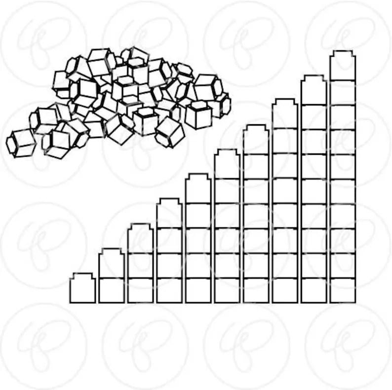 Math Manipulatives Counting LINE ART Clipart Mega Bundle
