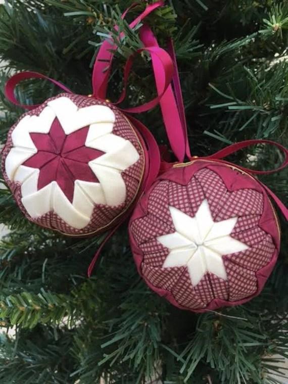 Burgundy Christmas Ornaments