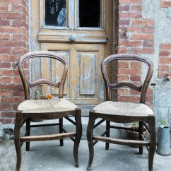 Vintage Kitchen Chairs Turquoise Cabinets French Rustic Chair Etsy Image 0