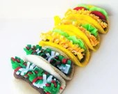 Pretend play food felt taco