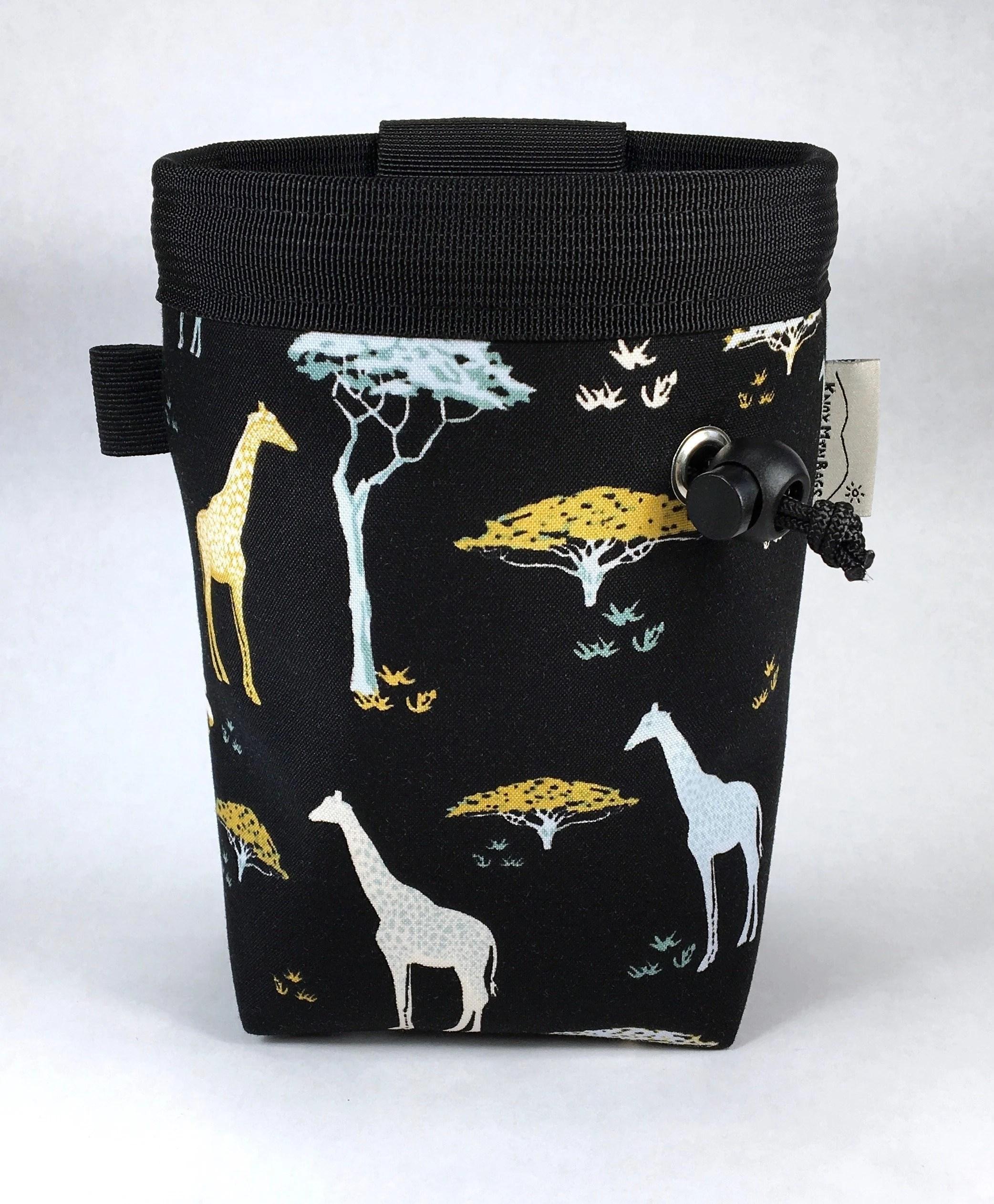chalk bag giraffes and