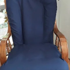 Slipcover For Glider Rocking Chair Stein Mart Parsons Chairs Etsy Nursery Rocker Navy Blue Covers Your Cushions 2nd Photo Shows Size