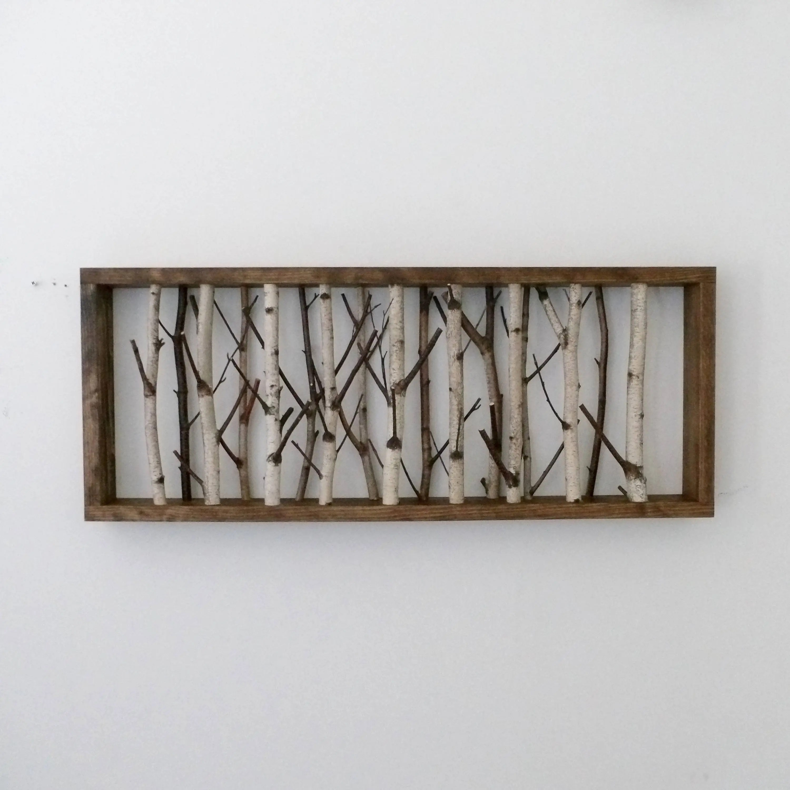 white birch forest wall art x birch branch decor etsy
