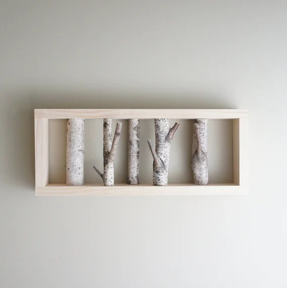 white birch forest wall art birch branch birch log wall etsy