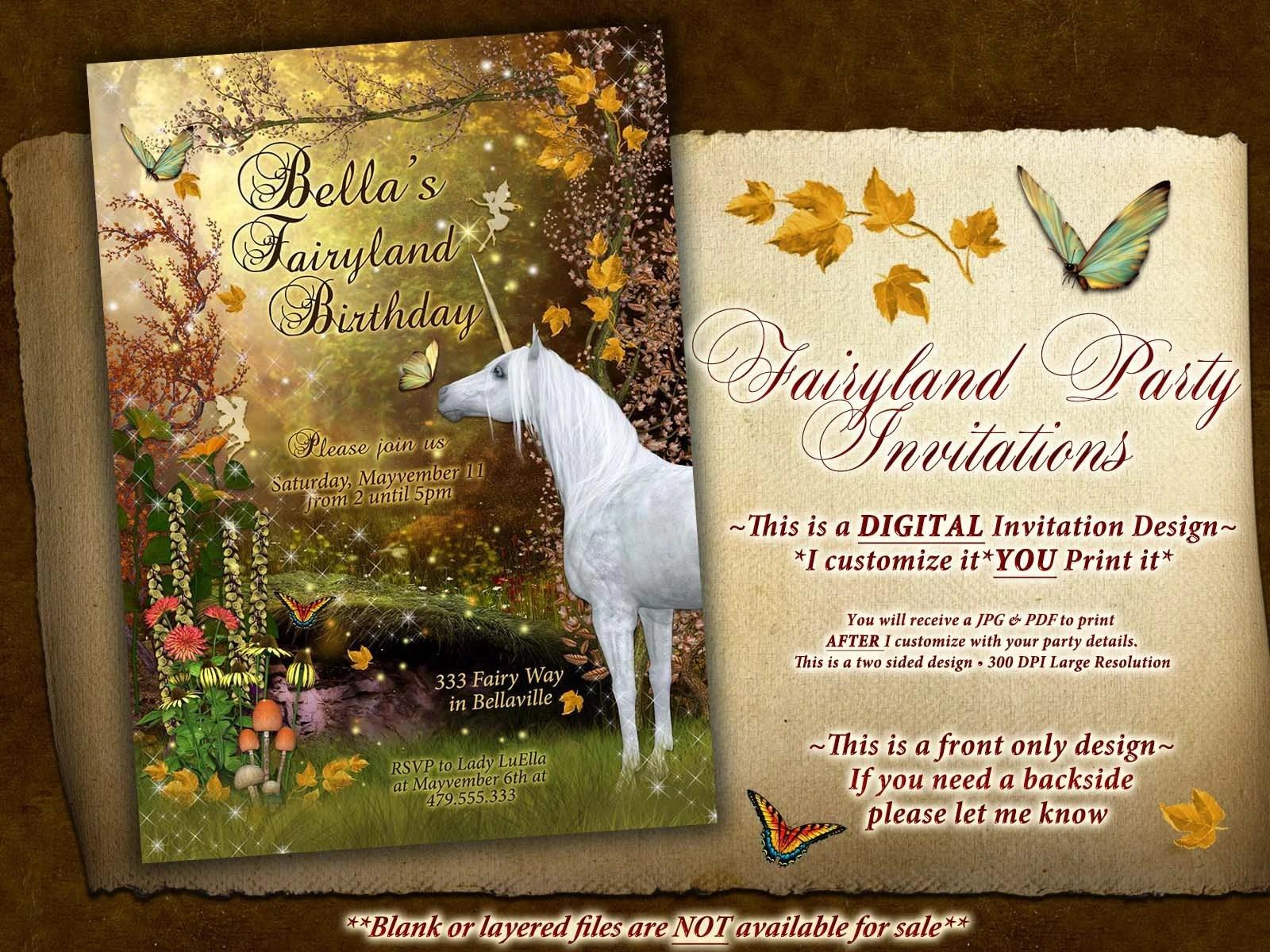 autumn unicorn birthday party