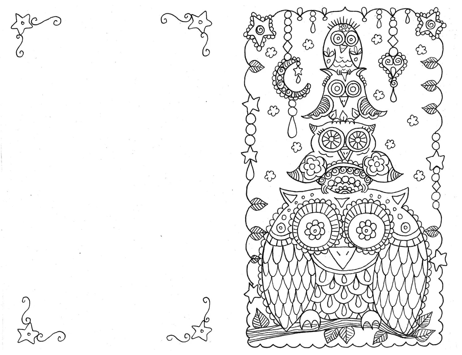 3 cards Coloring Christmas Cards You be the Artist Instant