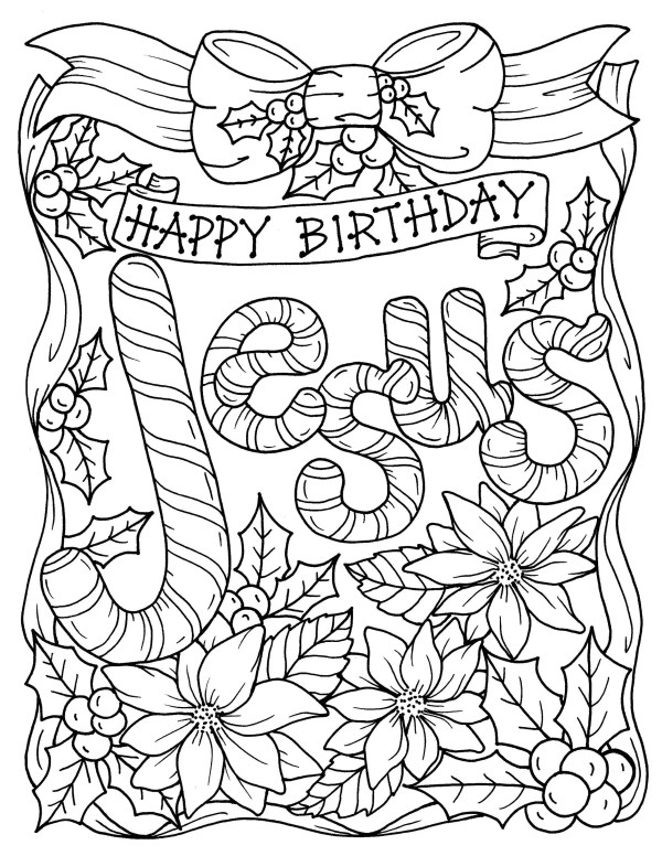 religious christmas coloring pages # 13