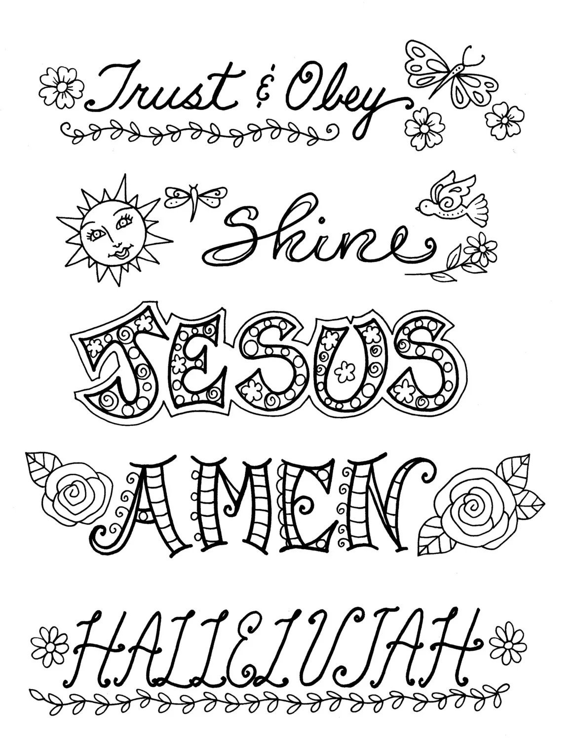 Bible Journaling Templates Clip Art Christian 5 pages