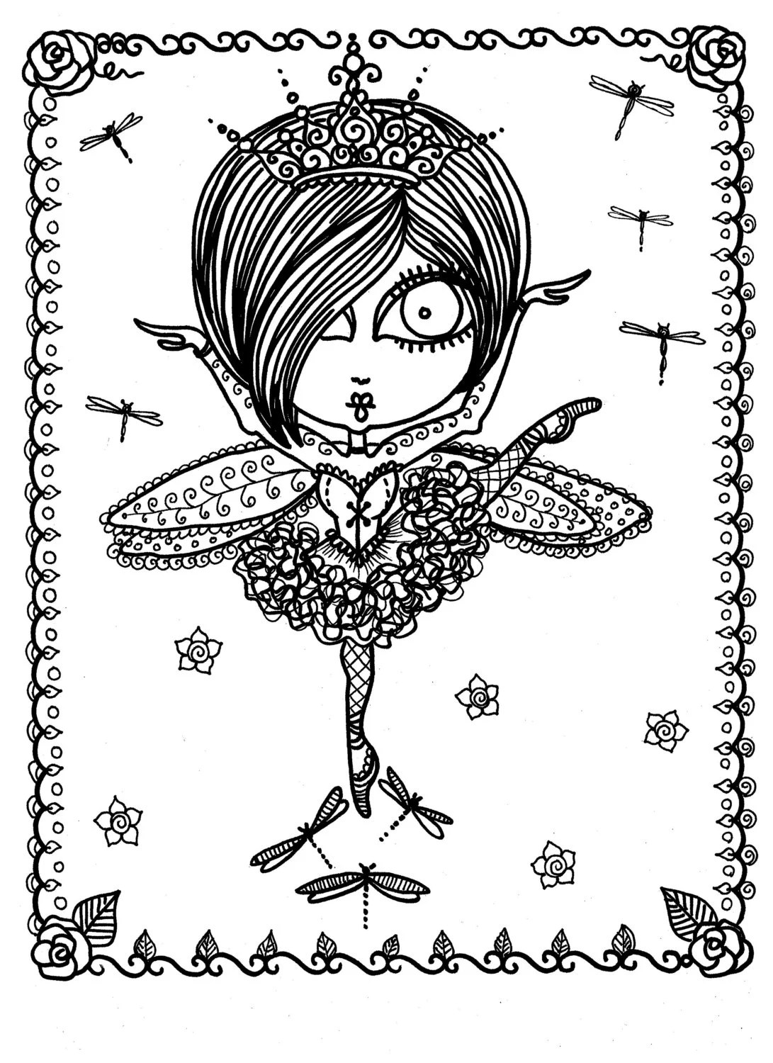 Coloring Book Downloads Funky Fairy Ballerina You be the