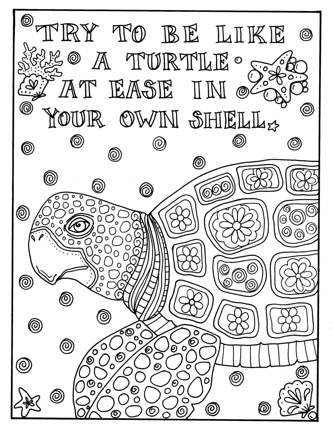 Instant download coloring page Adult coloring pages