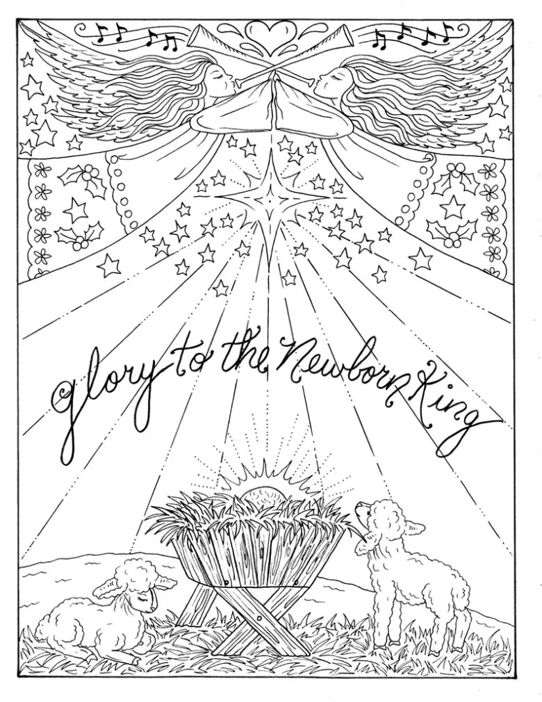 5 pages of christmas coloring christian scriptures bible adult | etsy