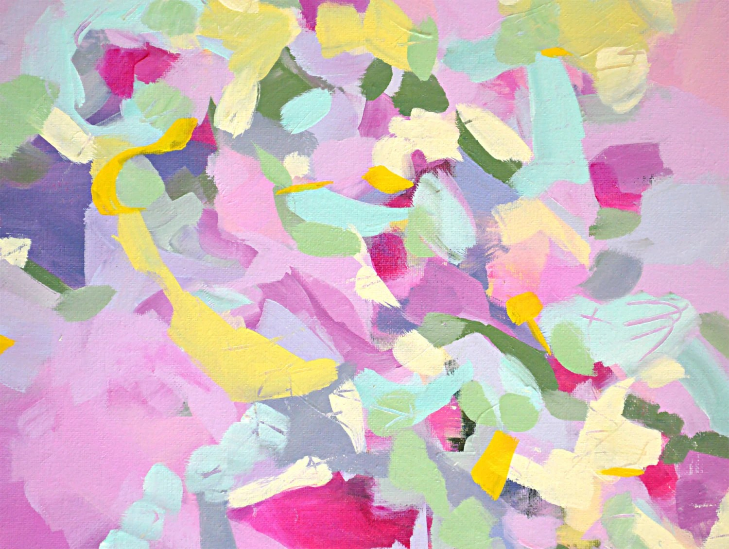 Pink Abstract Painting Print Giclee Print From Painting