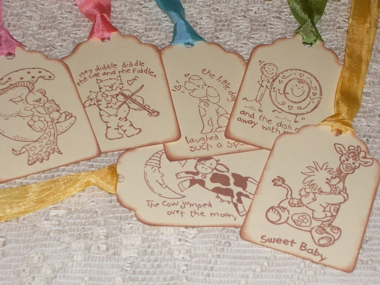 Nursery Rhyme Tags Baby Tags Hey Diddle Diddle Assortment