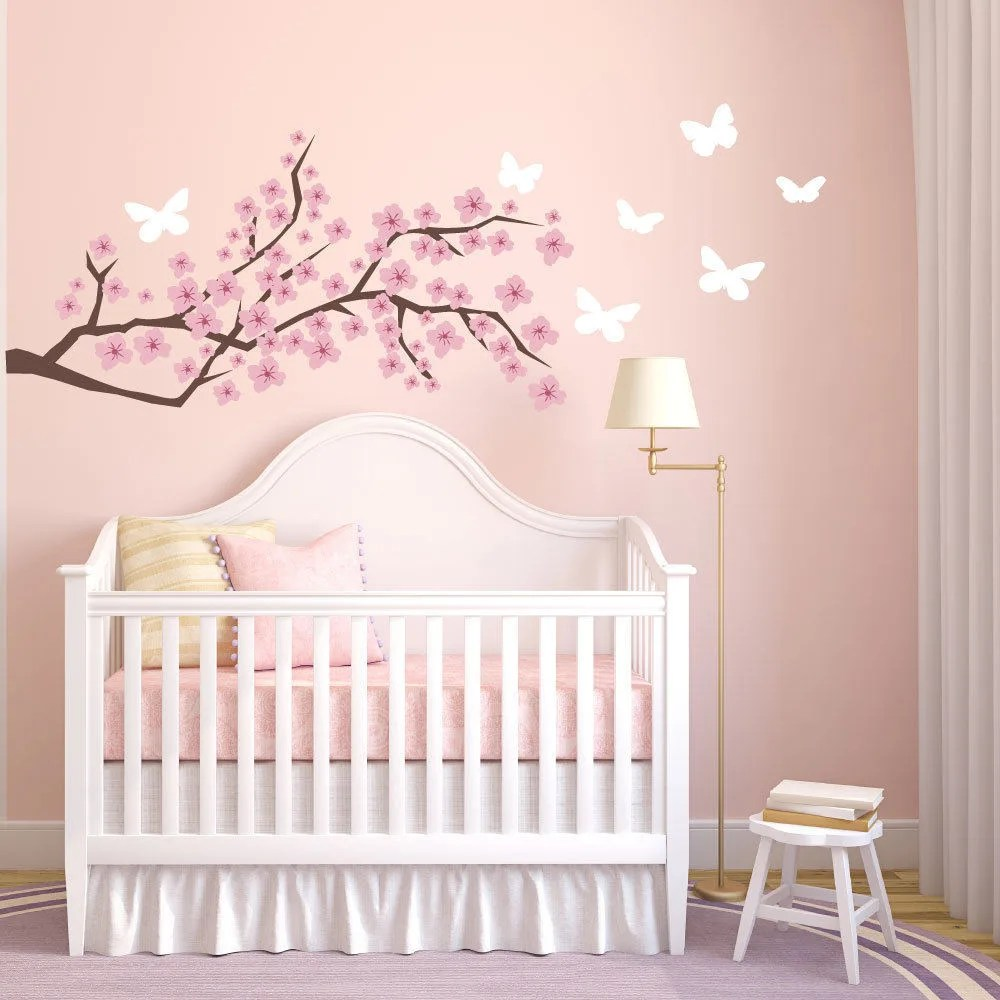 cherry blossom wall decal etsy wall decals nursery wall etsy