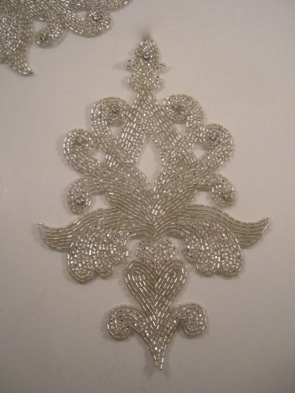 Large Classic Design Crystal And Rhinestone Beaded