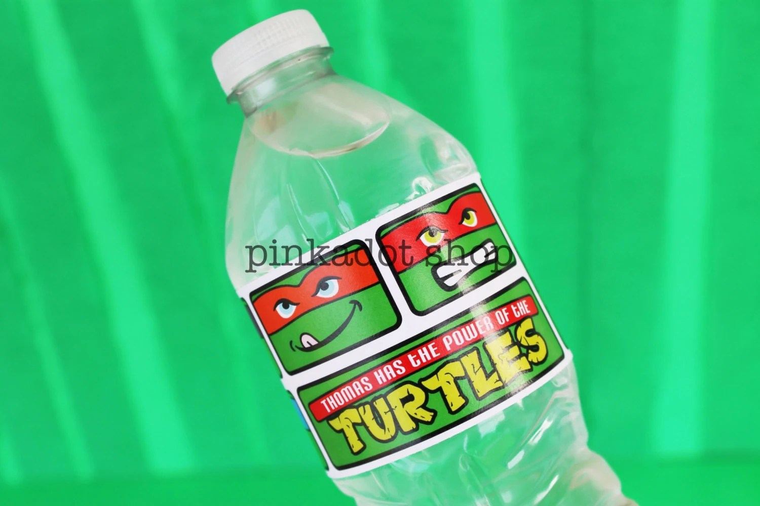 Ninja Turtle Collection Water Bottle Label Personalized