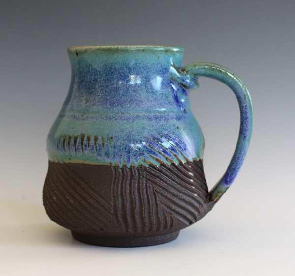 Pottery Coffee Mug 18 Oz Handmade Ceramic Cup Handthrown