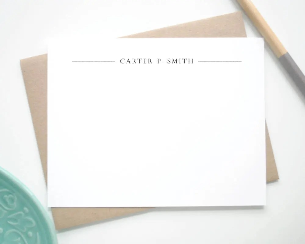 professional personalized stationery cards