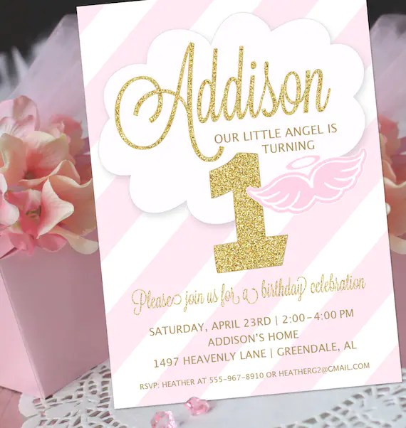 angel party invitation little angel