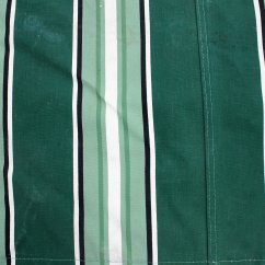 Sailcloth Beach Chairs Indoor Wicker Chair Vintage Canvas Striped Fabric Classic Green White Black Stripe Etsy Image 0