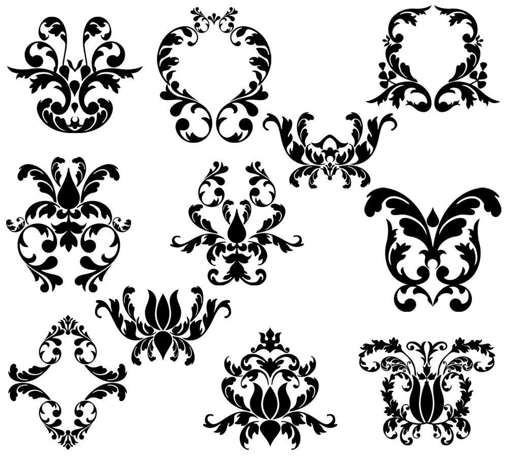 Damask Photoshop Brushes Damask Elements Photoshop Brushes