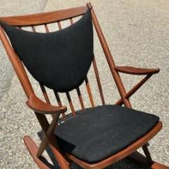 Danish Modern Rocking Chair Covers Etsy Mid Century Teak