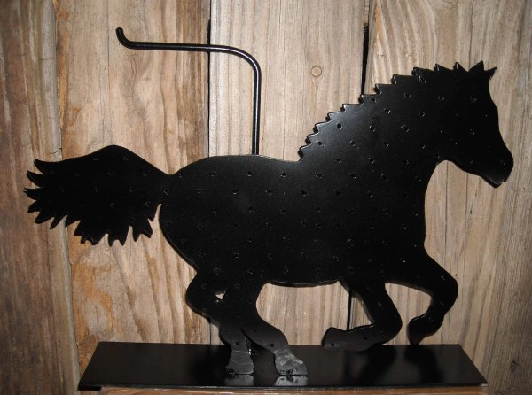 Horse Earring Necklace Holder. Metal Western Jewelry Stand