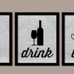 Modern Kitchen Art Valance For Window Wall Burlap Eat Drink Love Etsy Image 0