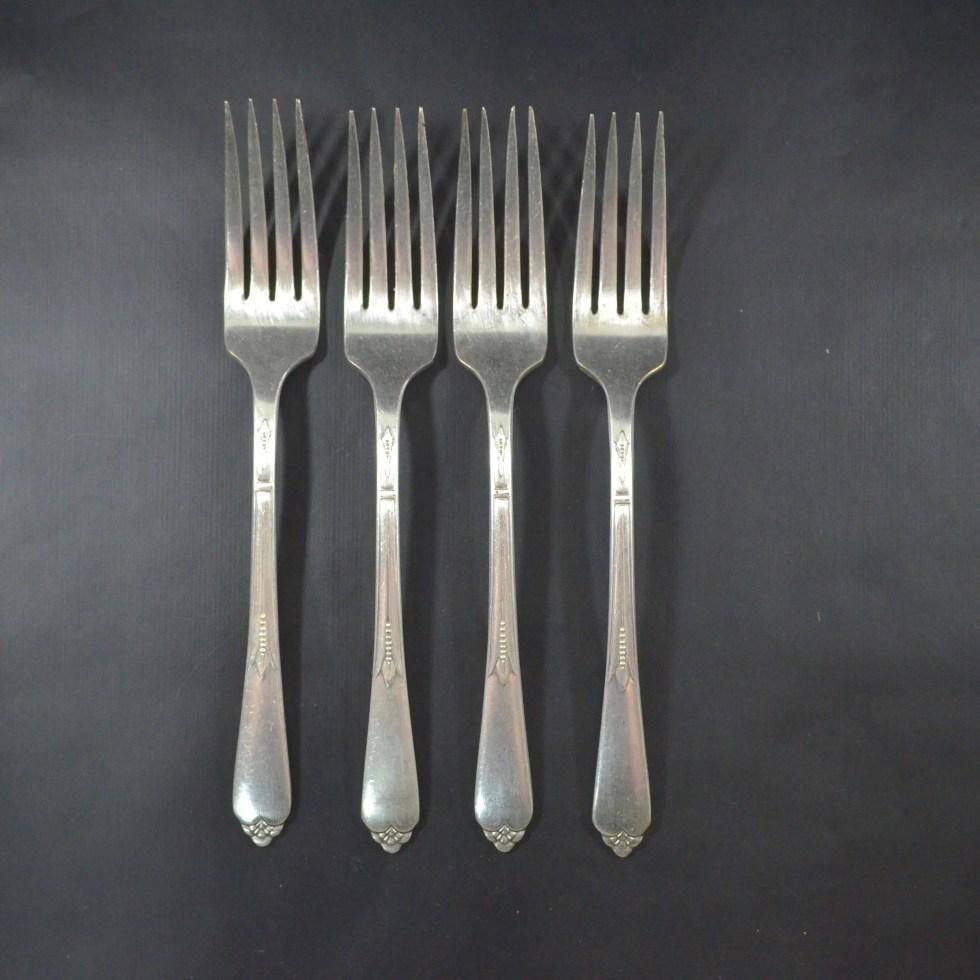 Art Deco Silver Dinner Fo...
