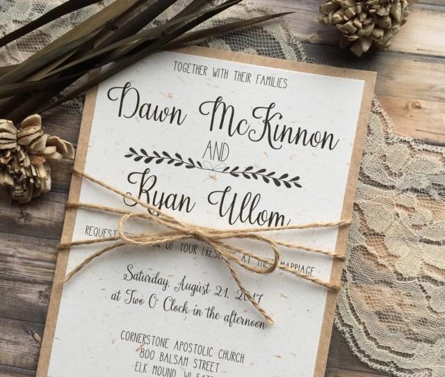 Rustic Wedding Invitation Vintage Wedding Invitation Elegant Wedding Invitations Whimsical Wedding Invitations Barn Wedding Invitation