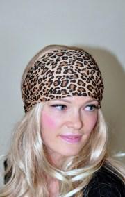 leopard headband hair wrap animal