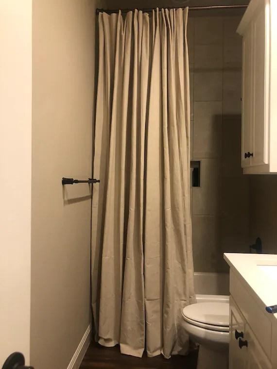 farmhouse extra long shower curtain