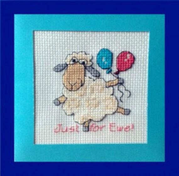 Ewe (Lamb) 'Just for Ewe! in Cross Stitch