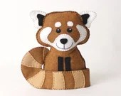 Red Panda Pattern, Hand Sewing Pattern for a Red Panda Stuffed Animal, Instant Download, Felt Plushie, Softie, Easy Pattern