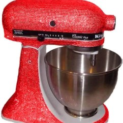 Red Kitchen Aid Mixer Booth Table Custom Made With Swarovski Elements Kitchenaid Etsy Image 0