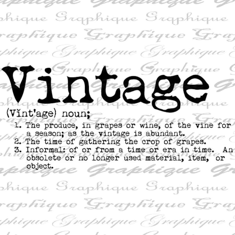 Dictionary Definition Word VINTAGE Typography Digital