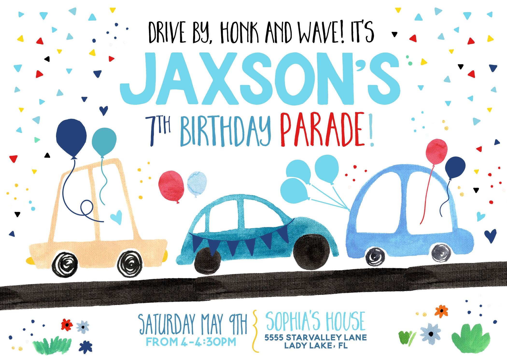 digital invite honk wave car parade