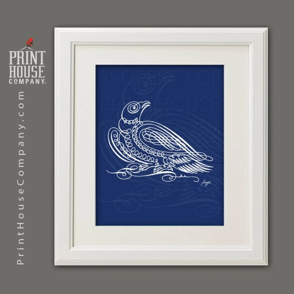 Eagle Calligraphy Illustration 8x10 Archival Giclee Fine