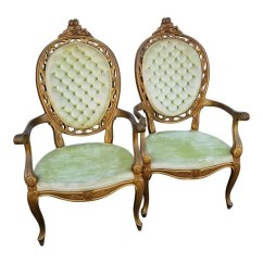 Louis Xv Chair Black Round Dining Table And Chairs Etsy French Style Bergere A Pair