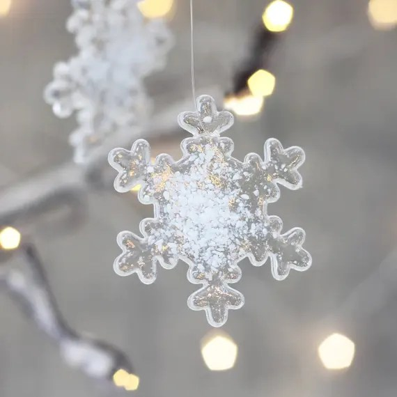 Glass Snowflake Decoration