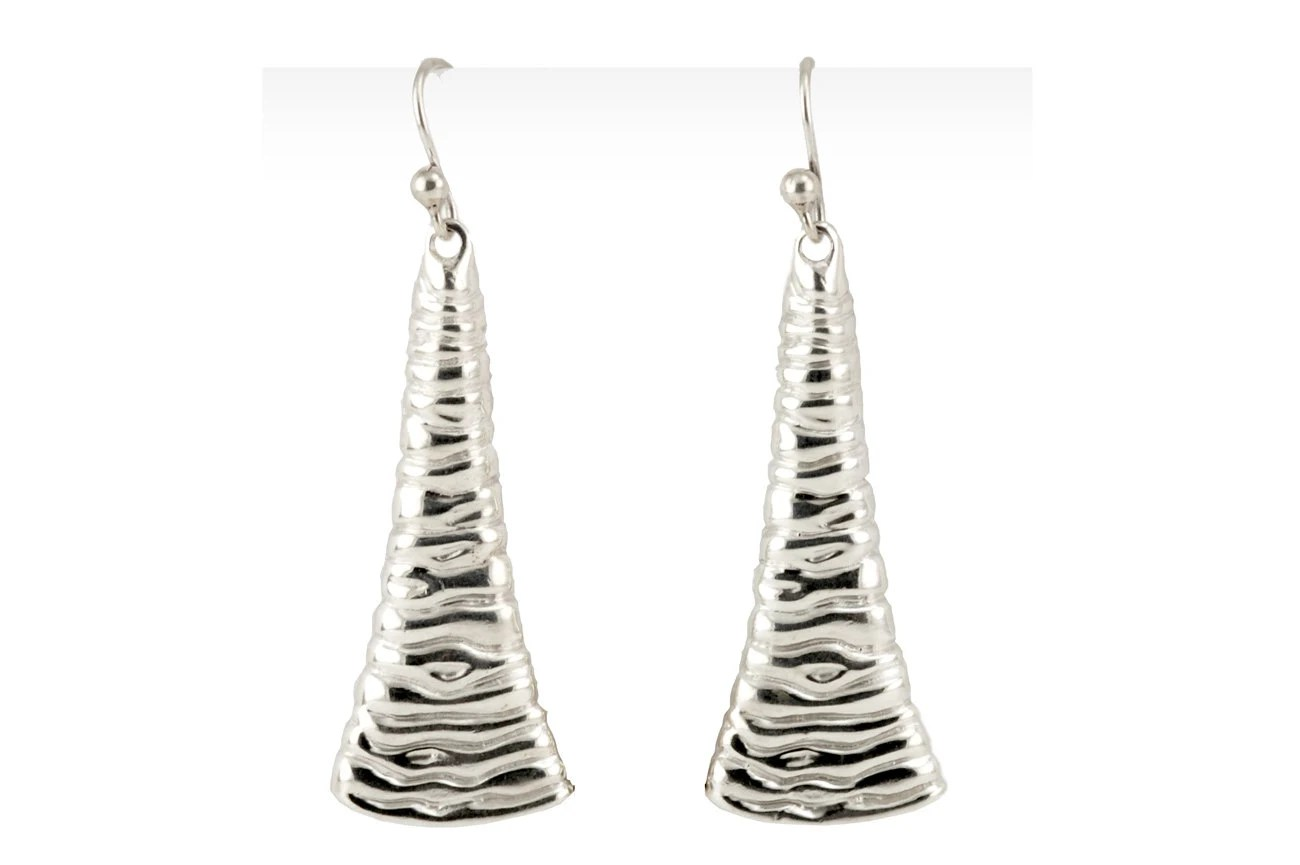 Shiny Dangle Earrings Liquid Silver Earrings Liquid Metal