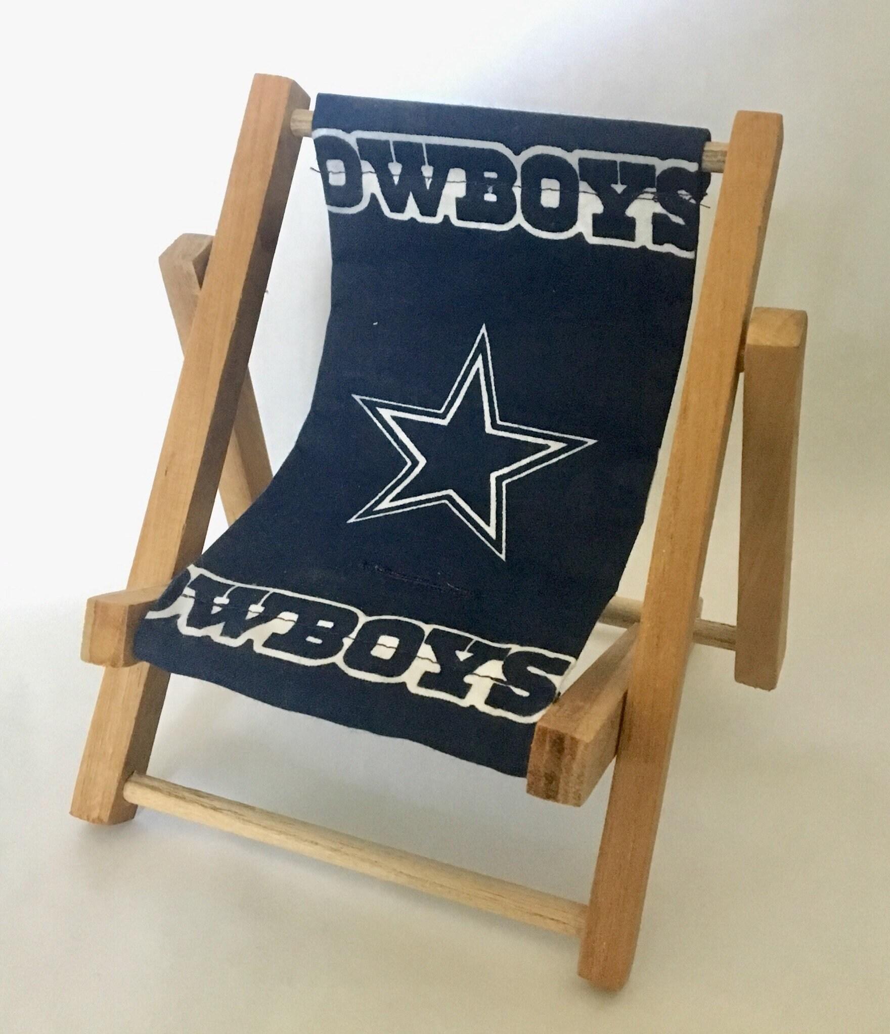 dallas cowboys folding chairs leather chair head protector team logo cell phone mamakohawaii