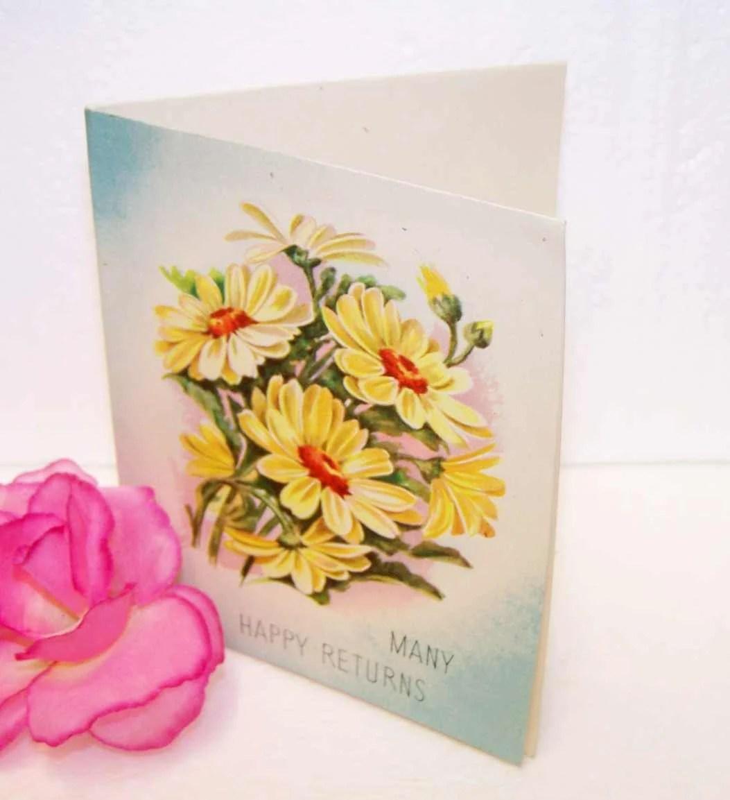 vintage greeting card yellow