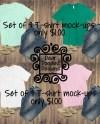 Set Of 4 Bella Canvas Short Sleeve T Shirt Tshirt Shirt Etsy