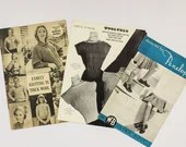 1930s British Knitting Patterns - Including Family Knitting, Childrens Socks, Womens Jumper