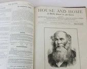 1879 Victorian England House and Home - House and Home A Journal for all Classes - UK English Antique
